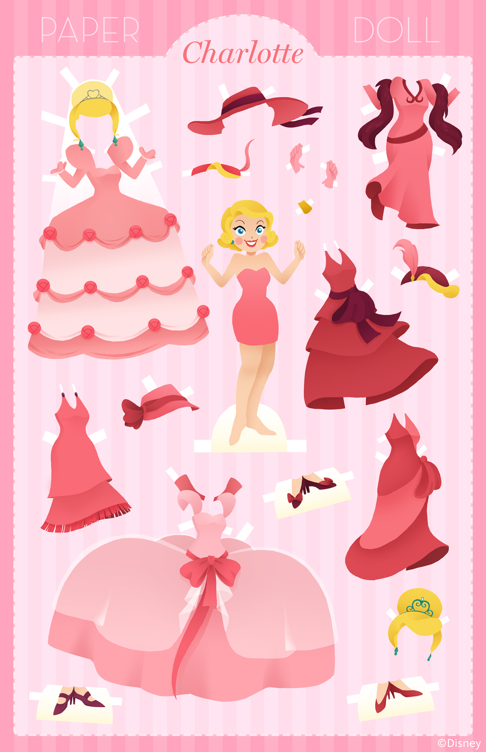 Куклы Бумажные Принцессы