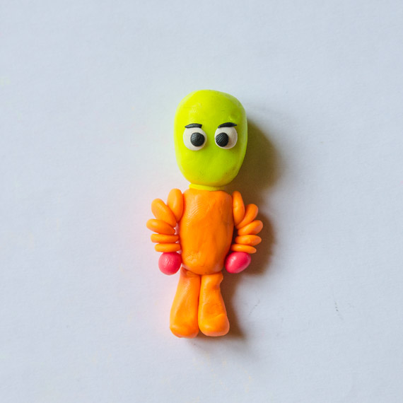 Поделки: Лепим фиксика Симку из пластилина