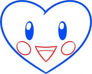Рисуем чиби сердечко на 14 Февраля