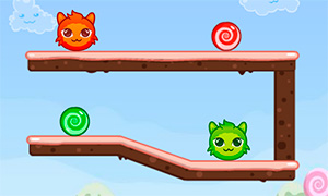 Позитивная игра: Котята похитители конфет