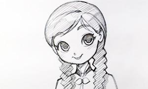 Ускоренный процесс рисования Анны