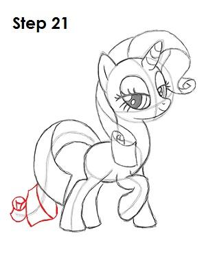 Как рисовать пони Рарити