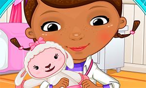 Игра для девочек: Доктор Плюшева лечит Лэмми