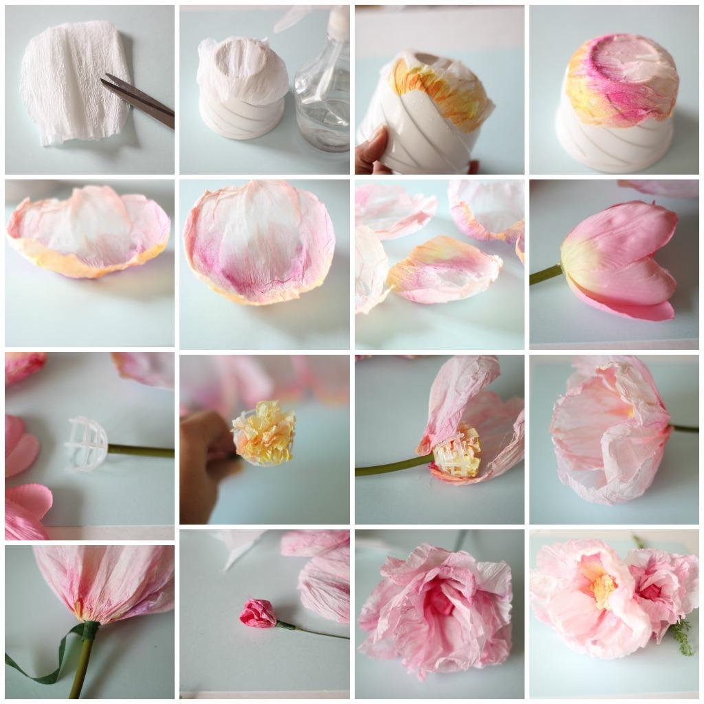 Цветы из бумаги своими руками. Подарок маме на 8 марта
