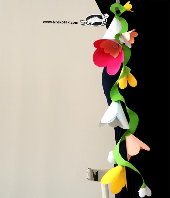 Гирлянды своими руками цветок из бумаги 38