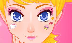 Игра для девочек: макияж в стиле Hello Kitty