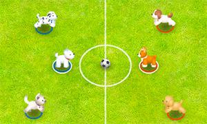Игра для двоих: Футбол с щенками