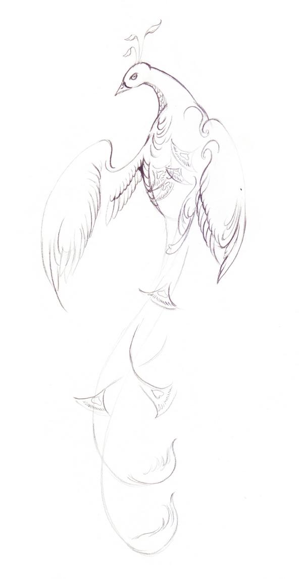 Как нарисовать волшебную птицу