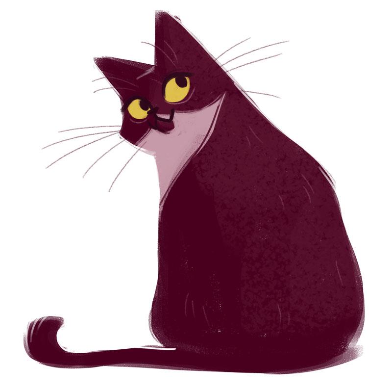 Рисуем влюбленных котов