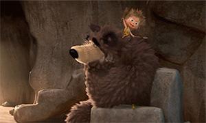 Маша и Медведь: Анимации с пещерными предками персонажей