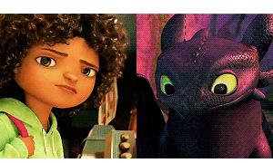 Анимации: Персонажи DreamWorks с зелеными глазами