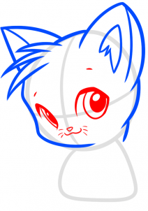Коты воители: Как рисовать маленького Огнезвезда