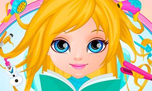 Игра: Прически для девочки в стиле Холодного Сердца