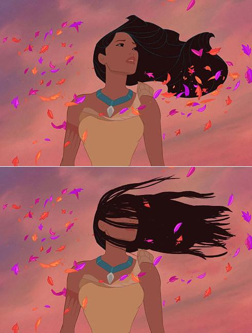 Как выглядели бы волосы принцесс Дисней в нашей реальности