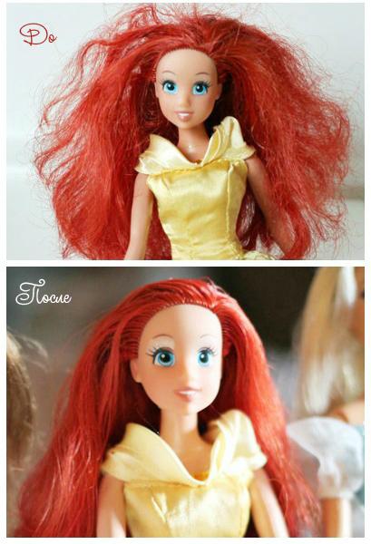 Как исправить волосы куклы