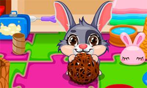 Игра для девочек: Уход за пушистым кроликом