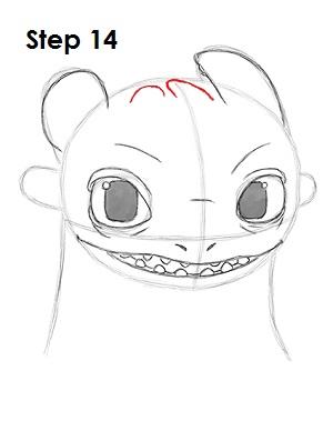 Как рисовать дракона Беззубика