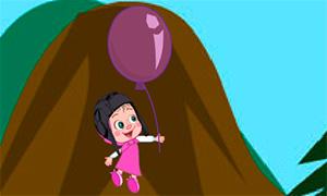 Игра Маша и Медведь: Полет на шарике