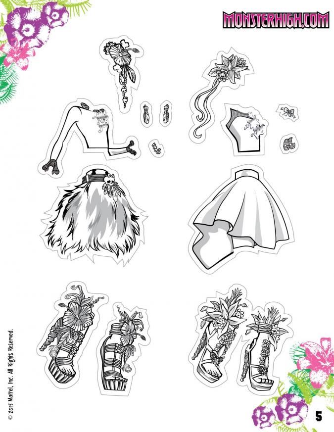 Монстр Хай: Бумажные куклы Цветущий Сумрак (Gloom and Bloom)
