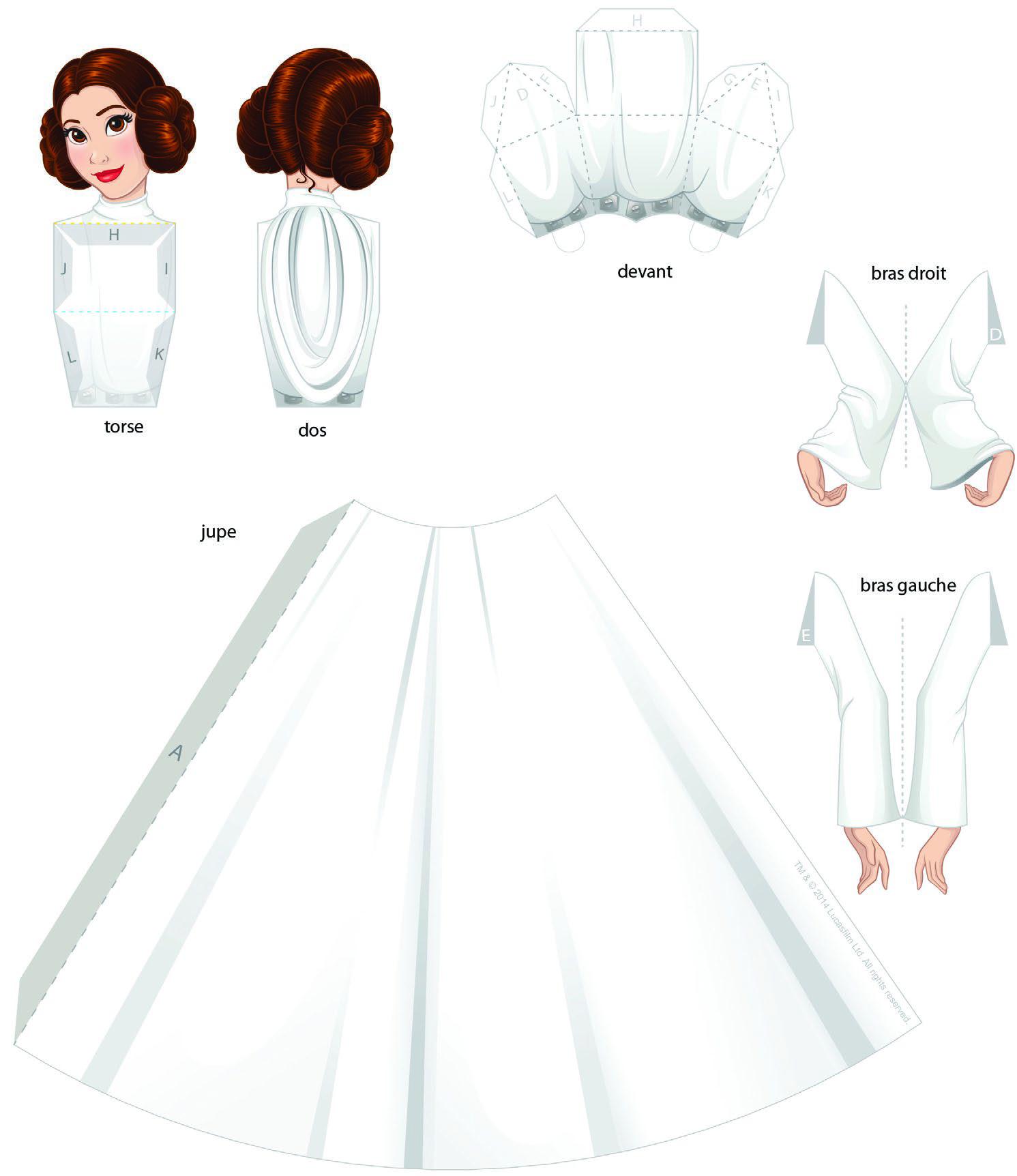 Как сделать из бумаги принцессу своими руками 19