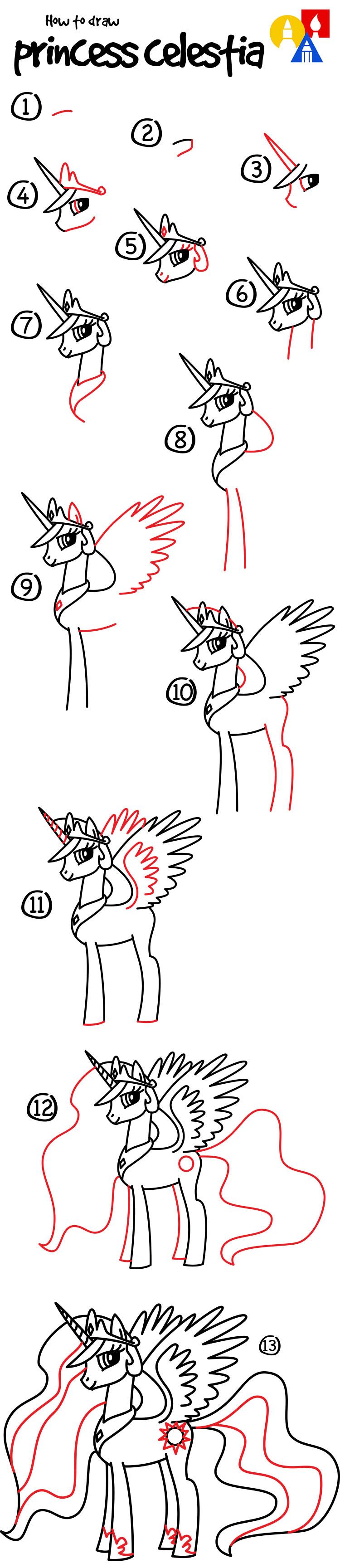 Как рисовать принцесс пони поэтапно