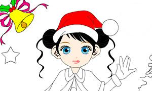 Игра раскраска: Новогодние наряды