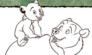 Игра для девочек: Братец Медвежонок и раскраски
