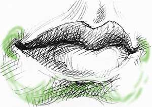 Рисование: Как рисовать губы