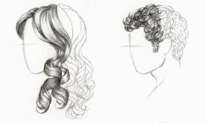 Как нарисовать кудрявые волосы поэтапно карандашом