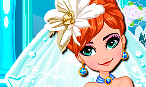 Игра для девочек: Свадебная одевалка Анны
