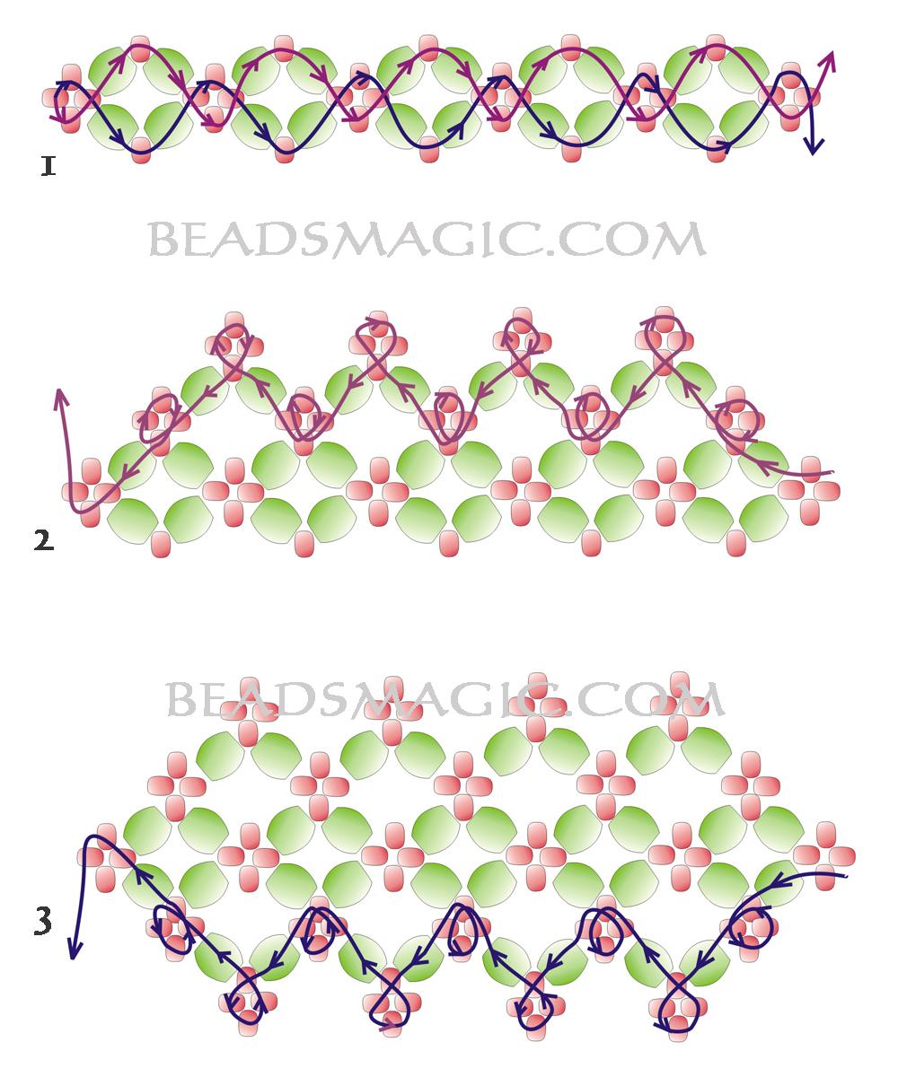 Схемы браслетов из бисера мелкого для начинающих