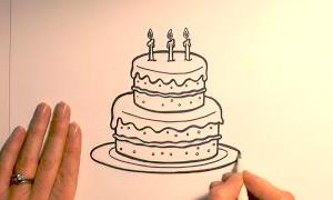 своими руками торт нарисовать