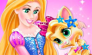 Игра Королевские Питомцы: Котенок Солнышко принцессы Рапунцель