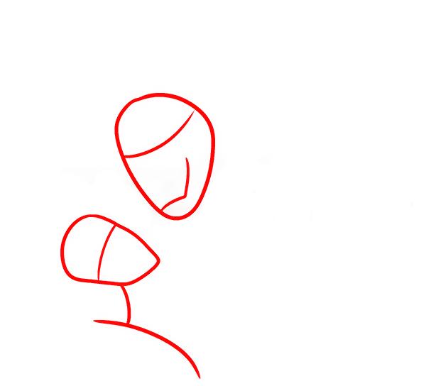 Красавица и чудовище рисунок карандашом поэтапно