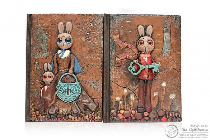Обложки для книг и дневников ручной работы