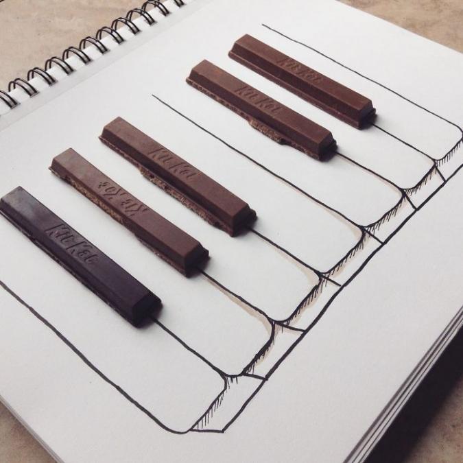 Оригинальные рисунки с различными предметами