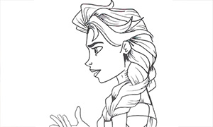 Рисование Холодное Сердце: Процесс рисования Эльзы