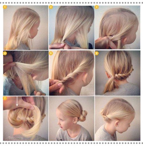 причёски для девочек фото уроки
