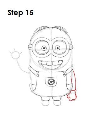 Как нарисовать миньона карандашом поэтапно