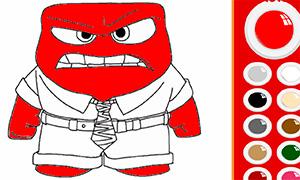 Игра мультфильм Головоломка: Раскраска Гнева