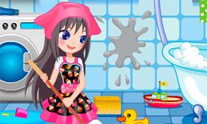 Игра для девочек: Уборка комнат в доме