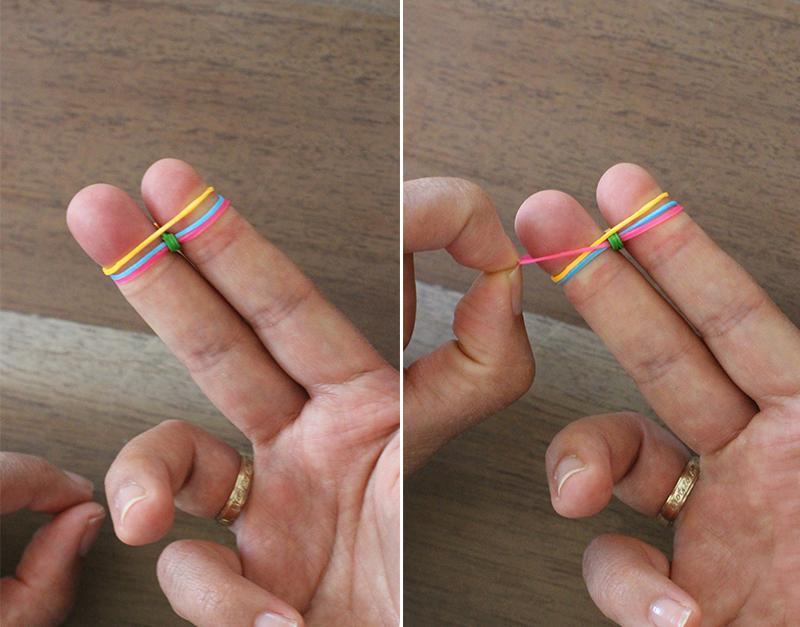 Как сделать тротуар из резинок на пальцах видео