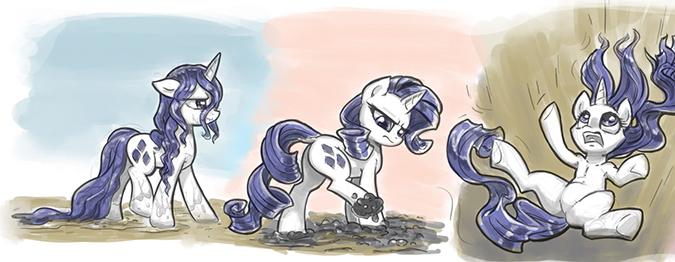 Рисование: Наброски с пони Рарити