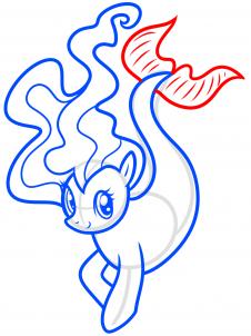 Как нарисовать пони русалочку