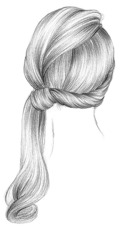 Рисунок карандашом с прической