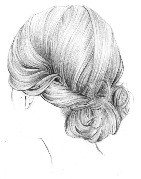 Рисунки причесок карандашом картинки