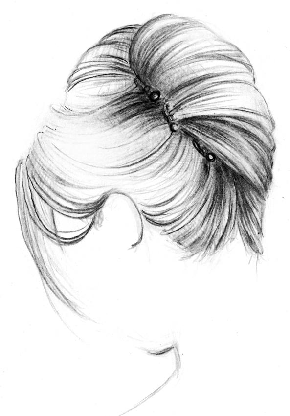 Рисую карандашом прически