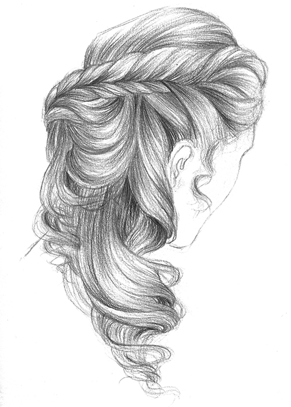 Прически карандашом рисунки
