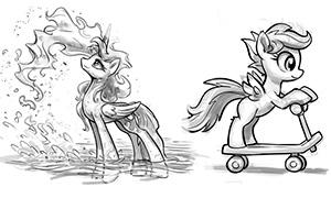 Дружба это Чудо: Наброски с пони для вдохновения