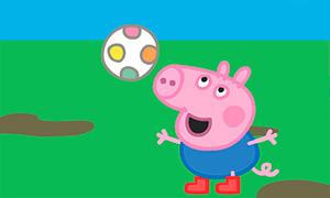 Игра Свинка Пеппа: Джордж и мячик